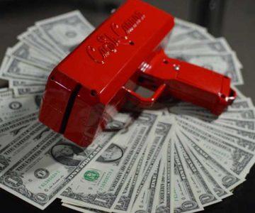 The Cash Cannon Gun