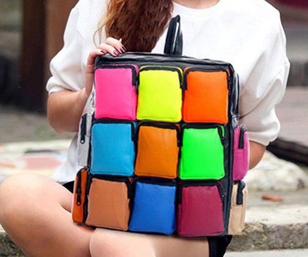 Colorful Rubiks Cube Bag
