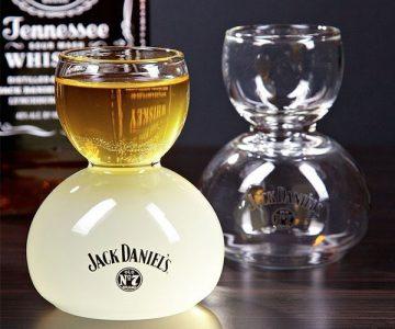 Jack Daniel's Whiskey On Water Glass