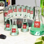 Mad Scientist Chemistry Shot Glasses Bar Set