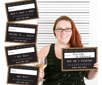 New Years Resolutions Photo Booth Party Mug Shots