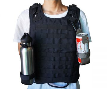 Tactical Water Bottle & Can Holder with Belt