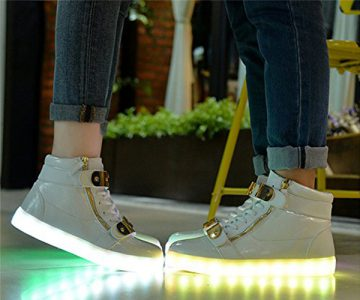 High Top Flashing LED Light Shoes Sneakers