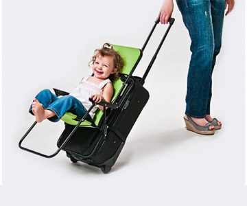Ride-on Carry-on Luggage Pushchair Stoller