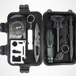 10 in 1 Emergency Survival Gear Outdoor Kit