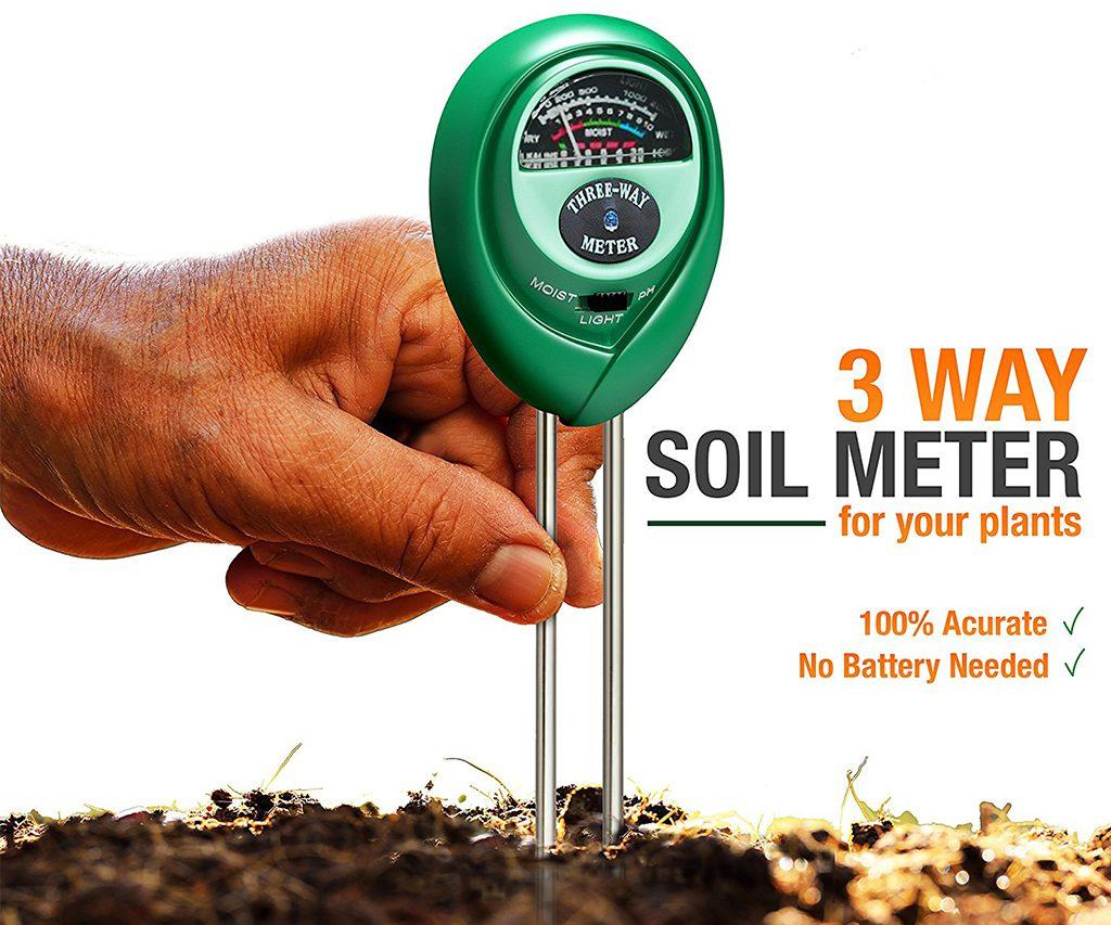 3-in-1 Soil Test Kit - Moisture, Light & pH