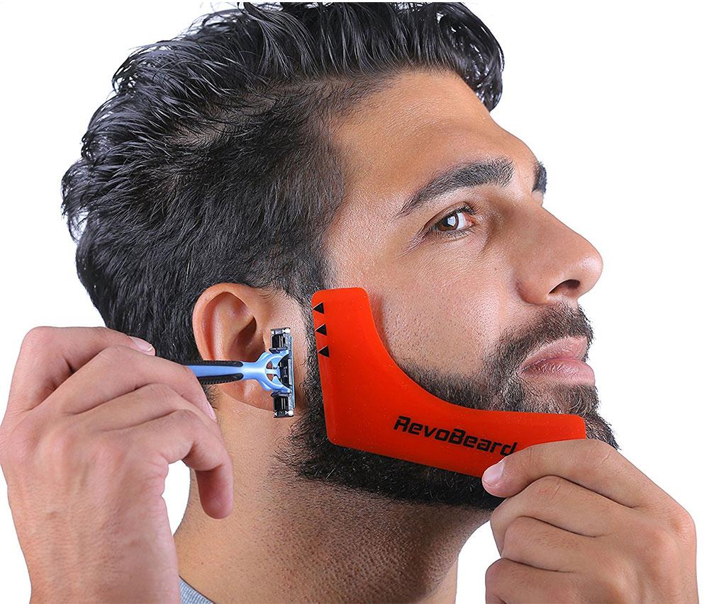 Men's Beard Styling Template