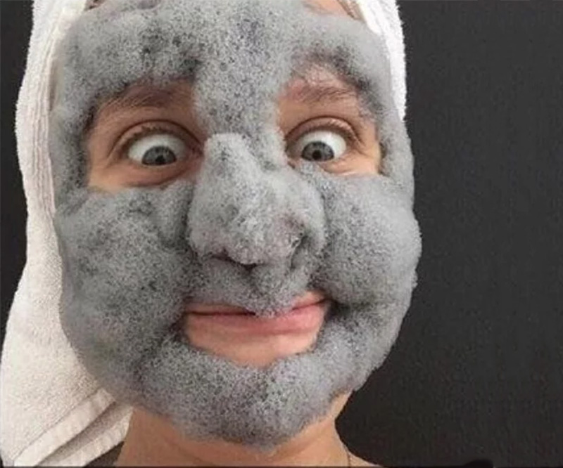 Fluffy Bubble Clay Face Mask
