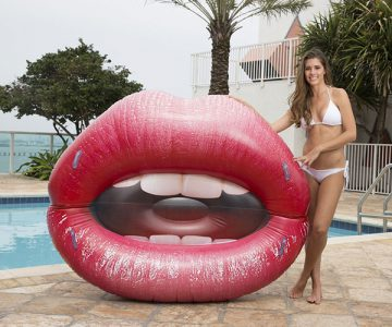Lucious Lips Lounger Pool Float