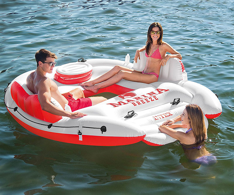 Marina Breeze Island Float Raft Inflatable