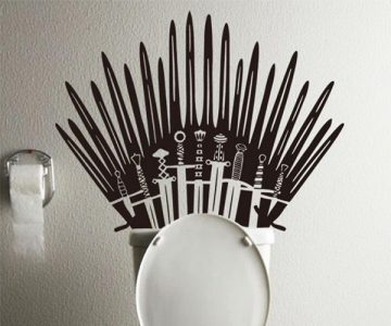 Game of Throne Toilet Decal