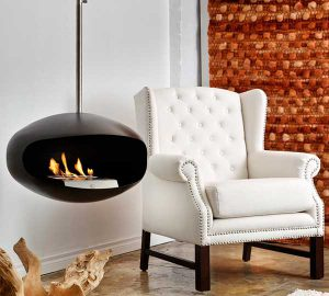 Aeris Black Fireplace