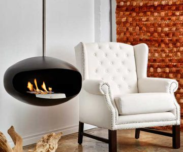 Aeris Black Fireplace