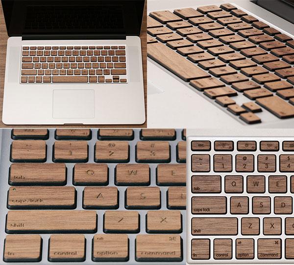 Apple MacBook Wood Keys