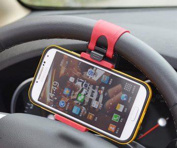 Car Steering Wheel Smartphone Holder