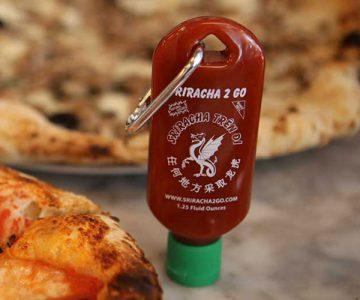 Hot Sauce Sriracha Keychain