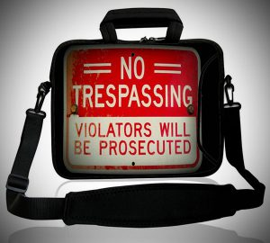 No Trespassing Laptop Bag