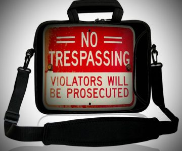 No Trespassing Laptop Bag