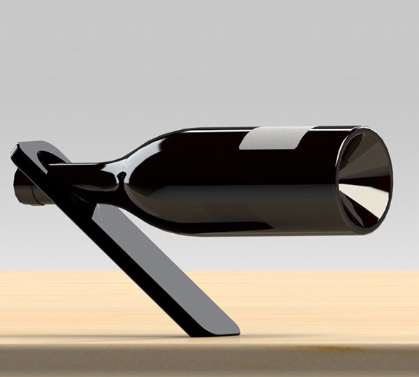 Oblique Horizontal Wine Bottle Holder