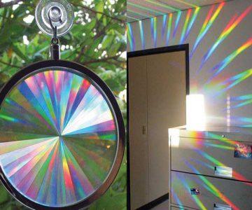 Rainbow Axicon Window Sun Catcher