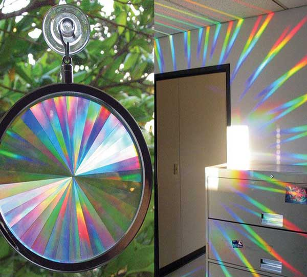 Rainbow Axicon Window Sun Catcher