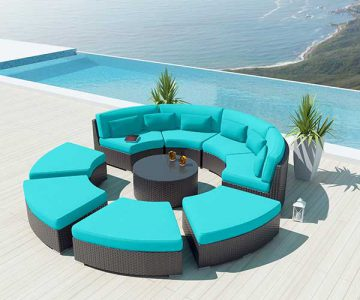Turquoise Round Patio Furniture