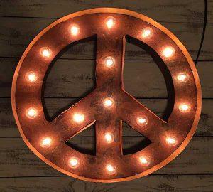 Vintage Marquee Peace Light