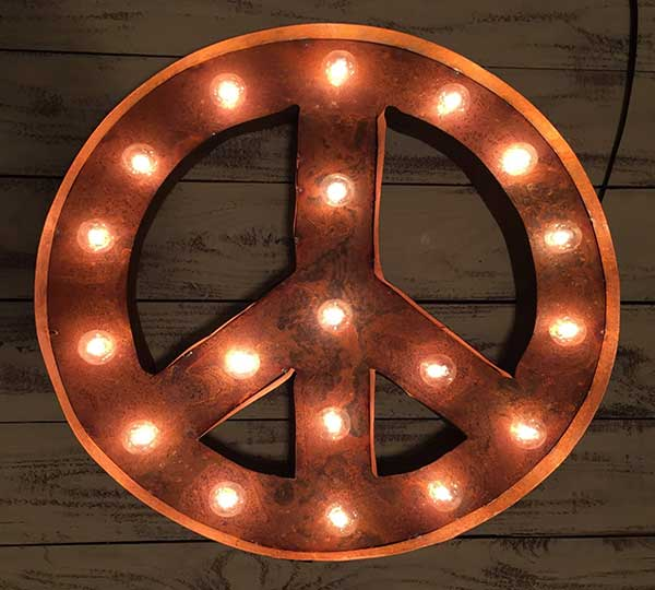 Vintage Marquee Peace Light