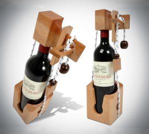 Wooden Puzzle Wine Bottle