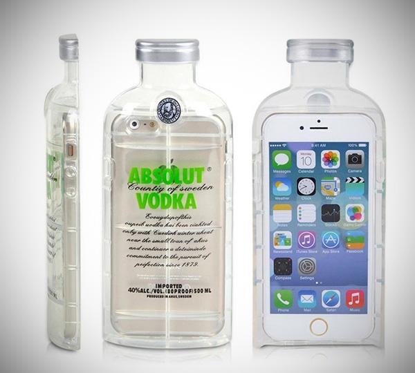 Absolut Vodka Bottle iPhone 6 Case Bottle iPhone 6 Case