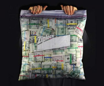 Big Cash Stash Ziplock Pillowcase