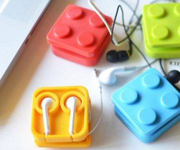 Block Earphone Holder Case