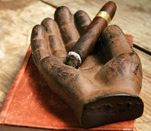 Cast Iron Cigar Ashtray Hand