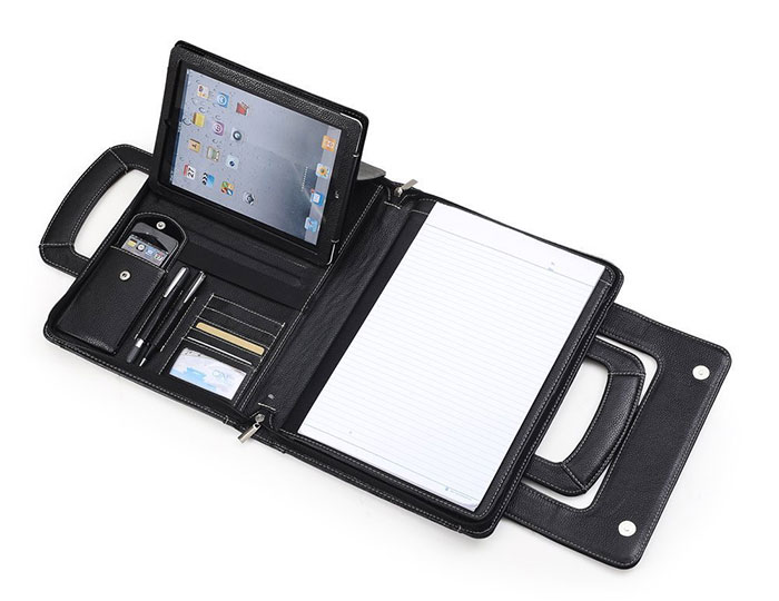 Compact Leather Briefcase for iPad and Macbook