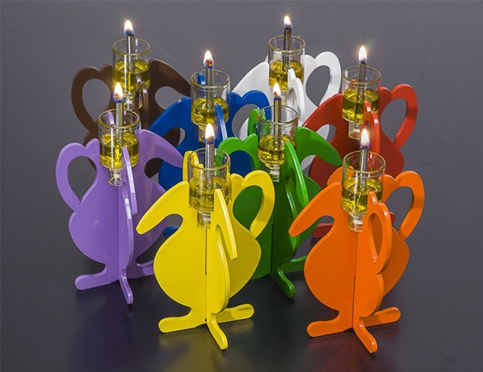Foldable Oil Flask Candleholder