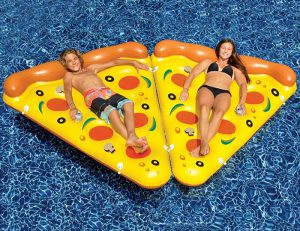 Inflatable Pool Pizza