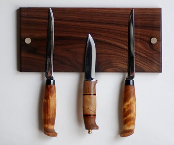 Magnetic Walnut Knife Holder