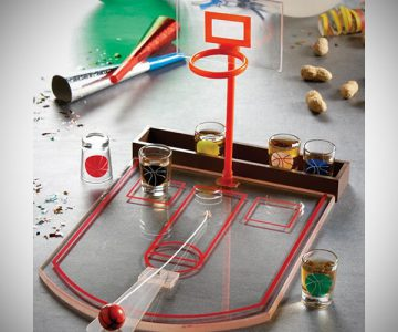Shot Glass Basketball Set