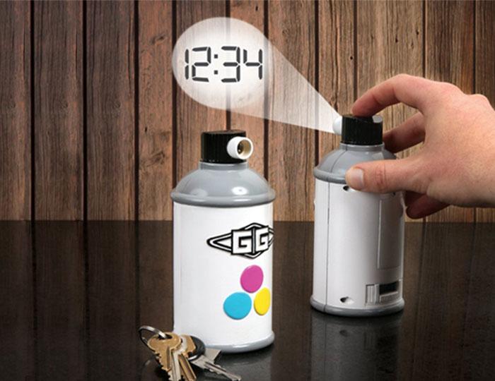 Spraycan Projection Clock