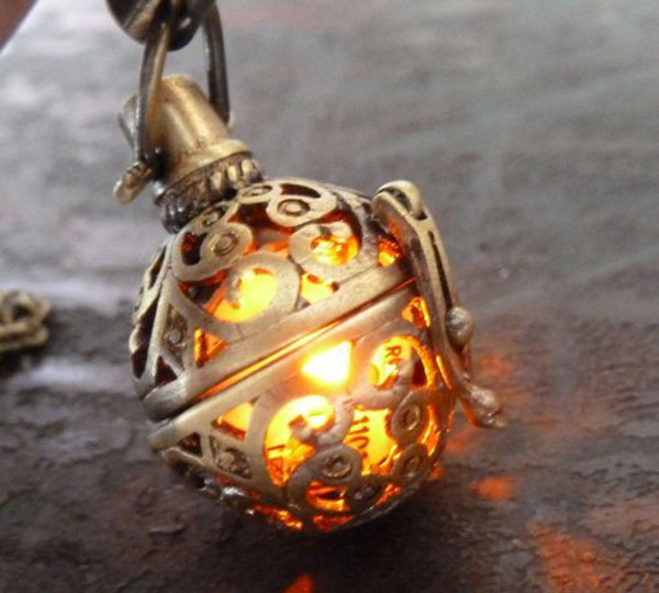 Steampunk firefly Necklace