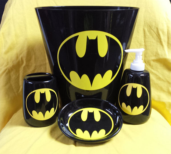 batman bathroom accessory set - Batman Bathroom