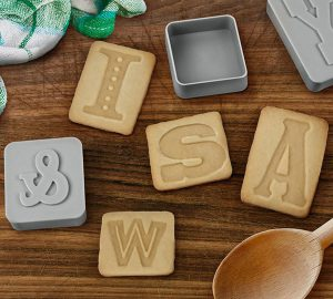 Letter Pressed Cookie Cutter & Stampers