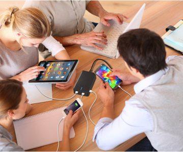 PowerFlow SmartQuad 4 Port USB Charger
