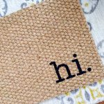 Quirky Hi Welcome Door Mat