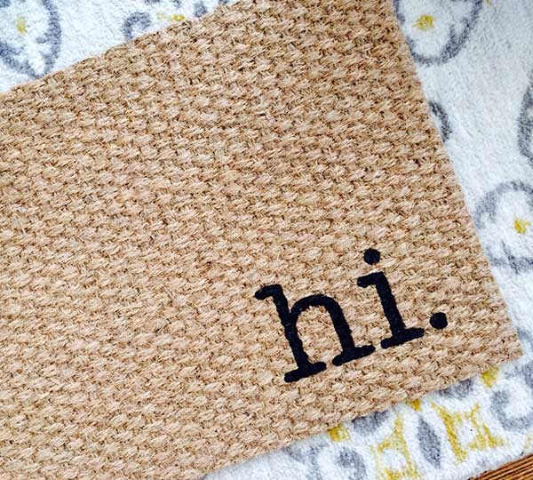 Quirky Hi Welcome Door Mat