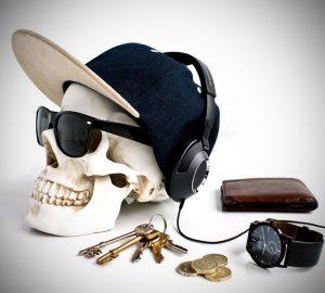 Skull Design Desk Organizer