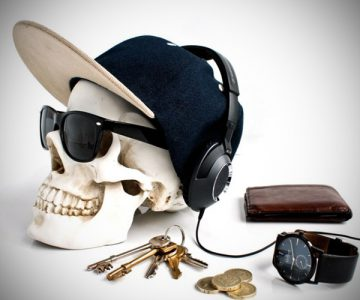 Skull Design Desk Organizer