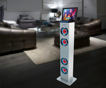 Tall Tower Stereo Speaker with LED Lights