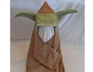 Yoda Inspired Hooded Bath Towel