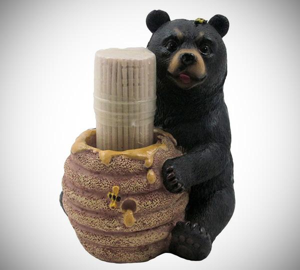 Bear Beehive Honey Pot Toothpick Holder